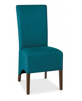 Bentley Designs Nina Walnut Wing Back Chair - Teal  (Pair)