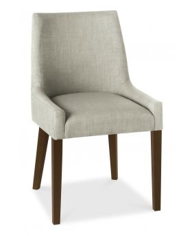 Bentley Designs Ella Walnut Scoop Back Chair - Linen  (Pair)