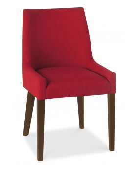 Bentley Designs Ella Walnut Scoop Back Chair - Red  (Pair)