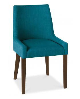 Bentley Designs Ella Walnut Scoop Back Chair - Teal  (Pair)