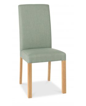 Bentley Designs Parker Oiled Oak Square Back Chair - Aqua (Pair)
