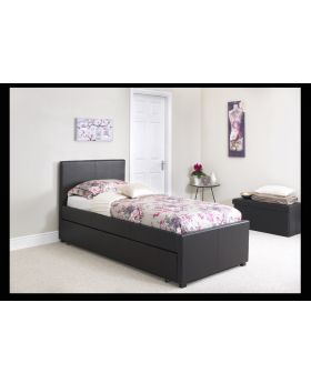 Serene Carra Faux Leather 90cm Guest Bed Frame