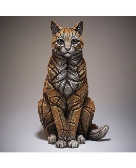 Edge Sculpture Sitting Cat in Ginger
