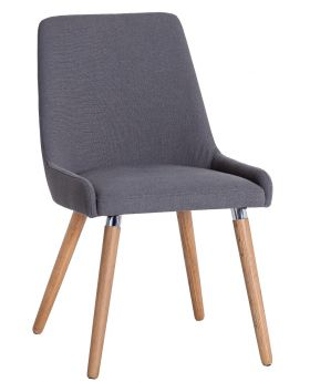 Kettle NTP Dining Retro Chair (Grey Fabric)