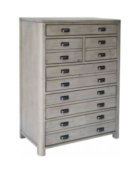 Classic Tempest Reclaimed Pine 6 Drawer Tall Chest