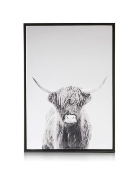 COCO Maison Framed Cow Picture