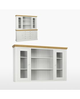 TCH Coelo Dining Large Glazed Top with Glass Shelves and Lights