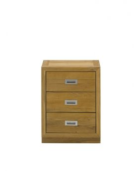 Unique Costa 3 Drawer Bedside Chest