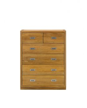 Unique Costa 2 over 4 Drawer Chest