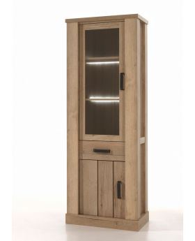 Recor Belgique Narrow Display Cabinet with Glass Door