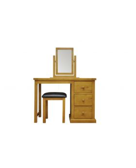 Vessel Soft Pine Dressing Table set with PU Stool