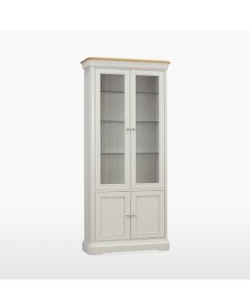 TCH Cromwell Dining Glassed Bookcase with 2 Doors