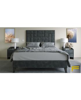 Furmanac Cube Upholstered Bed Frame