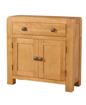 Devonshire Avon Oak Compact Sideboard 1 Drawer 2 Door