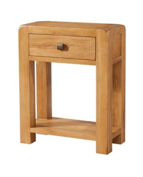 Devonshire Avon Oak Small Console 1 Drawer And Shelf