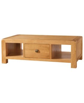 Devonshire Avon Oak Large Coffee Table With Drawer