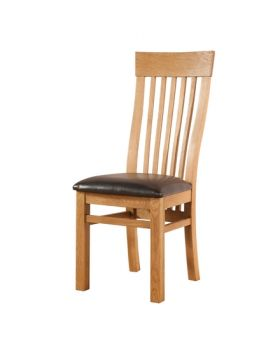 Devonshire Avon Oak Curved Back Chair