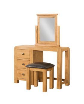 Devonshire Avon Oak Dressing Table & Stool