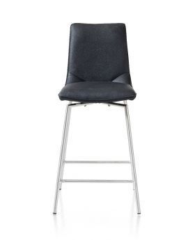 Habufa Davy Bar Stool - Stainless Steel legs