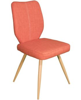 Pair of Classic Enka Dining Chairs - Orange