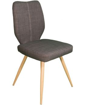 Pair of Classic Enka Dining Chairs - Slate Grey