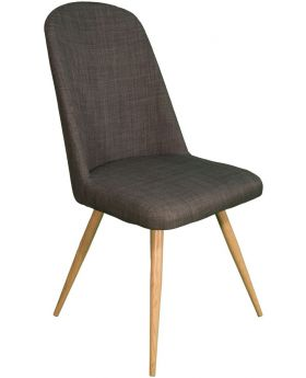 Pair of Classic Reya Dining Chair - Slate Grey