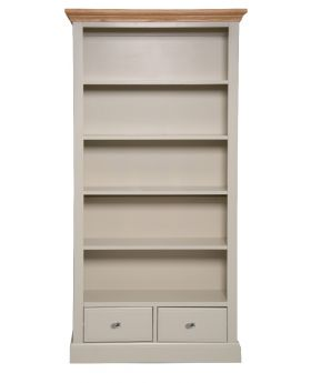 Vessel Country Style Dining Tall Wide Bookcase