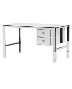 Ann Stainless Steel Desk With Drawers