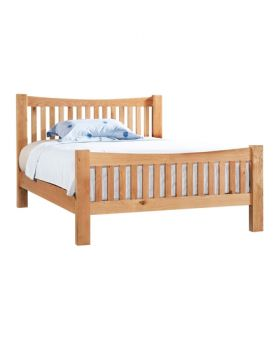 "Devonshire Wessex Oak 4'6"" Double Bedframe"