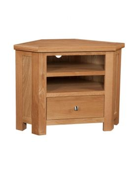 Devonshire Wessex Oak Corner TV Unit