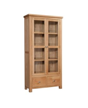 Devonshire Wessex Oak Display Cabinet With Glass Doors