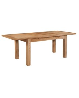 Devonshire Wessex Oak Dining Table With 2 Extensions 132-198 X 90