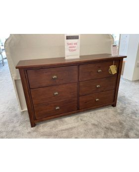 Classic Driftwood 6 drawer Wide Chest
