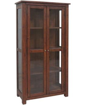 Classic Furniture Driftwood Reclaimed Pine Display Cabinet