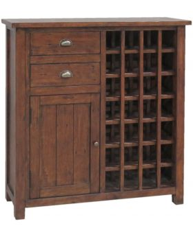 Classic Furniture Driftwood Reclaimed Pine 24 Bottle Cabinet