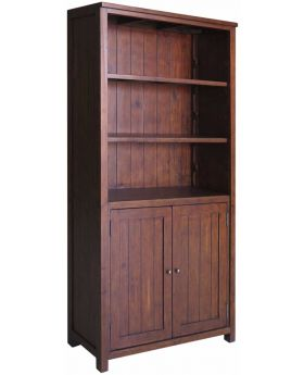 Classic Furniture Driftwood Reclaimed Pine Cupboard Bookcase