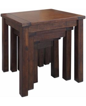 Classic Furniture Driftwood Reclaimed Pine Nest of Tables