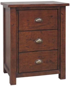 Classic Furniture Driftwood Reclaimed Pine Large Bedside Cabinet