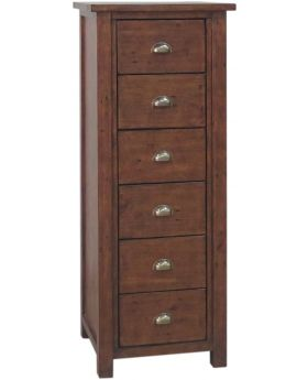 Classic Furniture Driftwood Reclaimed Pine 6 Drawer Tall Chest