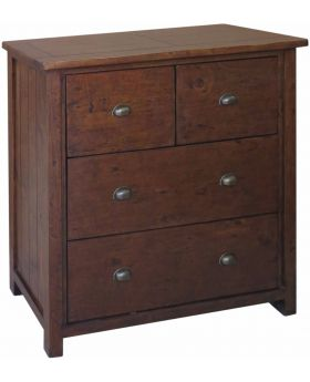 Classic Furniture Driftwood Reclaimed Pine 2 over 2 Chest of Drawers