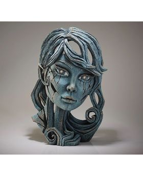 Edge Sculpture Elf Bust in Aqua Blue