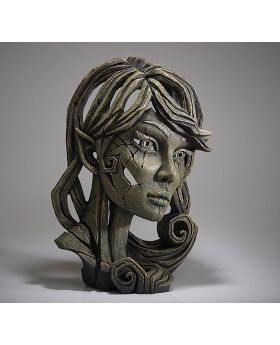 Edge Sculpture Elf  Bust in Leaf Green