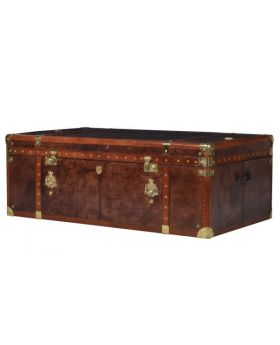 Jaipur Leather Trunk Coffee Table