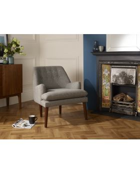 Serene Falkirk Retro Style Fabric Chair