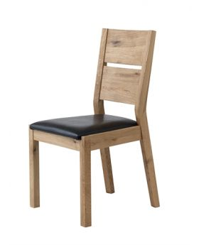 Unique Florence Dining Chair Brown PU Seat Pad KD
