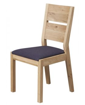 Unique Florence Dining Chair Black Fabric Seat Pad