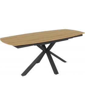 Classic Fusion Twist Motion Oak Effect Dining Table
