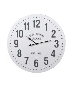 White 'Old Town' Wall Clock