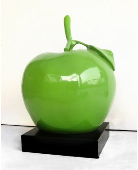 Big Green Apple Sculpture