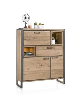 Habufa Metalux Highboard Storage Unit with LED Lights